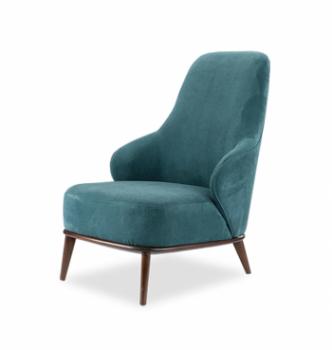 Кресло DLS Аква-1М Синий (MISSONI 017 Венге) фото-1