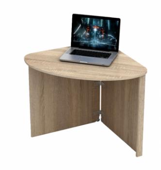 Стол для ноутбука Comfy-Home Skat 77x77 Бежевый (Сонома) фото-1