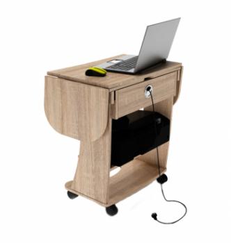 Стол для ноутбука Comfy-Home Kombi A3 67(120)x48(63) Коричневый (Орех лесной) фото-5