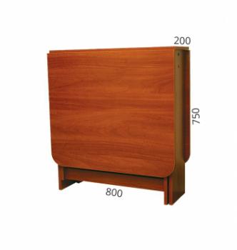 Стол книжка NIKA Мебель Ника 48/3 20(160)x80 Коричневый (Яблоня Локарно темная) фото-4