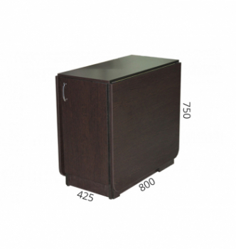 Стол книжка NIKA Мебель КМС-2 43(176)x80 Черный (Дуб Венге) фото-4