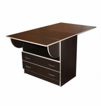 Стол книжка NIKA Мебель КМС-3 48(140)x80 Черный (Дуб Венге) фото-2
