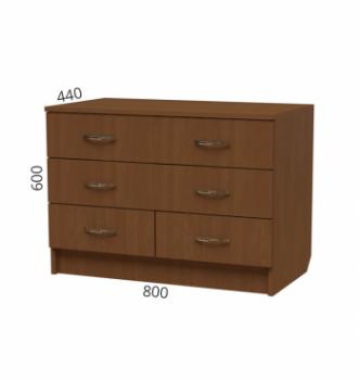 Комод NIKA Мебель К-19 80x44x60 Коричневый (Дуб Сонома светлый) фото-2
