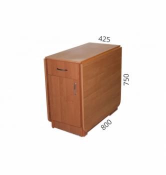 Стол книжка NIKA Мебель КМС-1 43(176)x80 Коричневый (Орех Лесной) фото-4