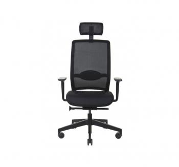 Кресло Kreslalux VERIS NET Черный (Чёрный Black) фото-2