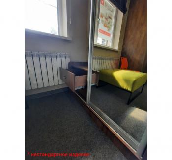 Прихожая NIKA Мебель н/с 120x45x220 Коричневый (Дуб Шамони темный Зеркало) фото-3