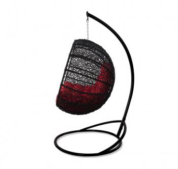 Кресло подвесное Украинские Конструкции Фиеста со стойкой Черный (Черный Красная) фото-2