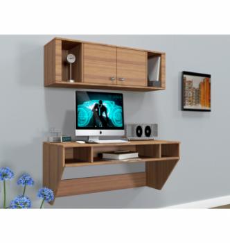 Стол навесной Comfy-Home AirTable-II Kit LB 110x52 Коричневый (Орех лесной) фото-2