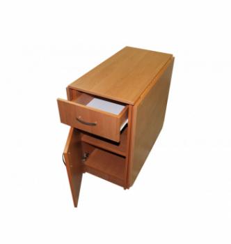 Стол книжка NIKA Мебель КМС-1 43(176)x80 Коричневый (Орех Лесной) фото-3