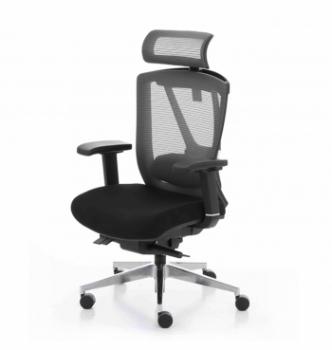Кресло Kreslalux Ergo Chair 2 Black Черный (Чёрный/Чёрный) фото-1