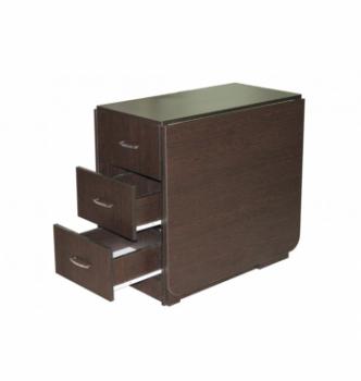 Стол книжка NIKA Мебель КМС-5 43(176)x80 Черный (Дуб Венге) фото-4