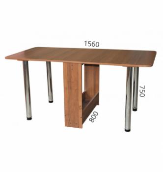 Стол книжка NIKA Мебель КМС-4 20(156)x80 Коричневый (Вишня Оксфорд) фото-5
