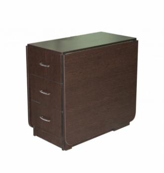 Стол книжка NIKA Мебель КМС-5 43(176)x80 Черный (Дуб Венге) фото-1