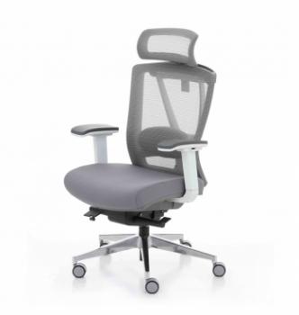 Кресло Kreslalux Ergo Chair 2 White Серый (Серый/Серый) фото-1