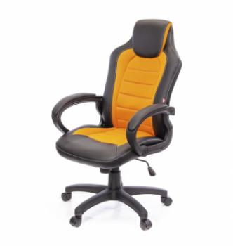 Кресло геймерское АКЛАС Астон PL TILT Черный (Черный/Оранжевый) photo-0