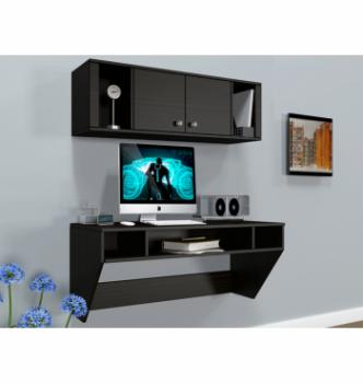 Стол навесной Comfy-Home AirTable-II Kit DB 110x52 Коричневый (Венге магия) фото-2