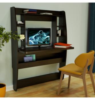 Стол навесной Comfy-Home AirTable BIG 110x49 Коричневый (Венге магия) фото-3