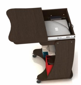 Стол для ноутбука Comfy-Home Kombi 65x45 Коричневый (Яблоня) фото-3