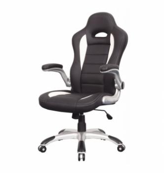 Кресло геймерское Signal Q-024 Черный (PU Черный/Белый) фото-1