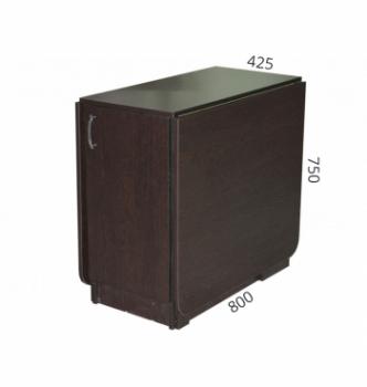 Стол книжка NIKA Мебель КМС-6 43(176)x80 Черный (Дуб Венге) фото-3