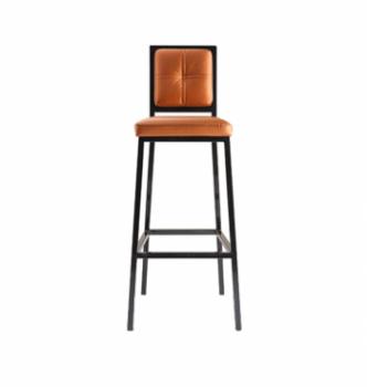 Стул барный DLS Сенс Оранжевый (BOOM 17 Черный RAL-9017) фото-1