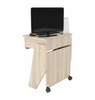 Стол для ноутбука Comfy-Home Kombi Z2 65x45 Бежевый (Сонома) фото-4