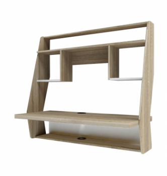 Стол навесной Comfy-Home AirTable-IІІ SW 100x50 Бежевый (Сонома) фото-1