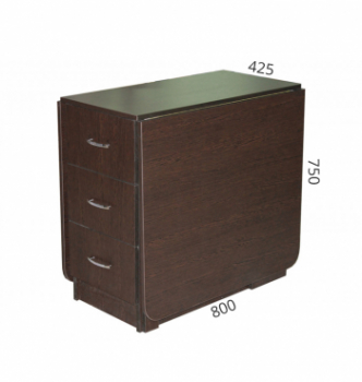 Стол книжка NIKA Мебель КМС-5 43(176)x80 Черный (Дуб Венге) фото-3