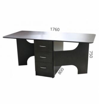 Стол книжка NIKA Мебель КМС-2 43(176)x80 Черный (Дуб Венге) фото-5