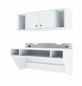 Стол навесной Comfy-Home AirTable-II Kit WT 110x50 Белый (Белый) фото-1