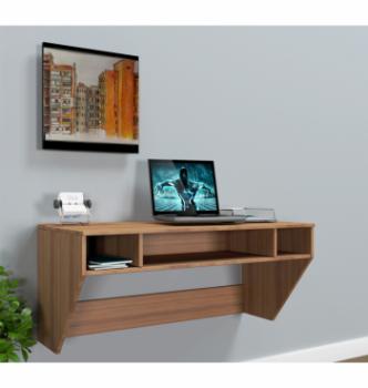 Стол навесной Comfy-Home AirTable-II LB Mini 110x52 Коричневый (Орех лесной) фото-2