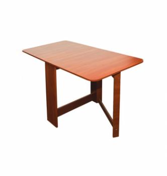 Стол книжка NIKA Мебель Ника 48/3 20(160)x80 Коричневый (Яблоня Локарно темная) фото-2